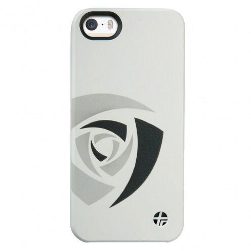 Carcasa cuero grabado verdadero Trexta® Rose Series Blanca iPhone 5 - 5S