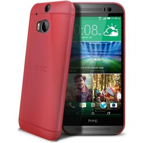 Carcasa Ultra Fina 0.3 mm Frost HTC One M8 Roja