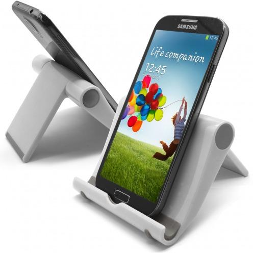 Soporte de oficina universal para smartphones y tabletas blanco laquado