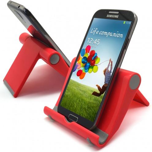 Soporte de oficina universal para smartphones y tabletas azul rojo
