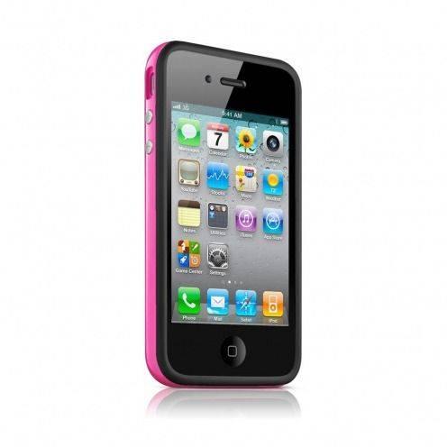 Carcasa Bumper HQ Negra / Rosa para iPhone 4S / 4