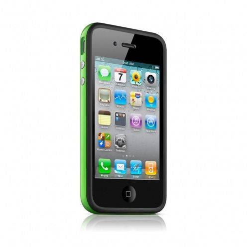 Carcasa Bumper HQ Negra / Verde para iPhone 4S / 4