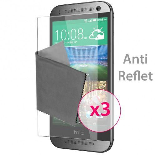 Películas de protección antideslumbrante HTC One mini2 ® Clubcase set de 3