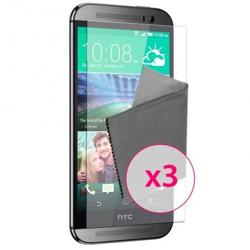 Películas de protección antideslumbrante HTC One M8 ® Clubcase set de 3