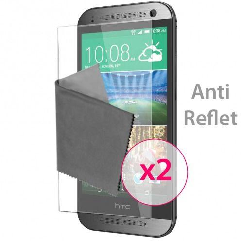Películas de protección antideslumbrante HTC One mini2 ® Clubcase set de 2