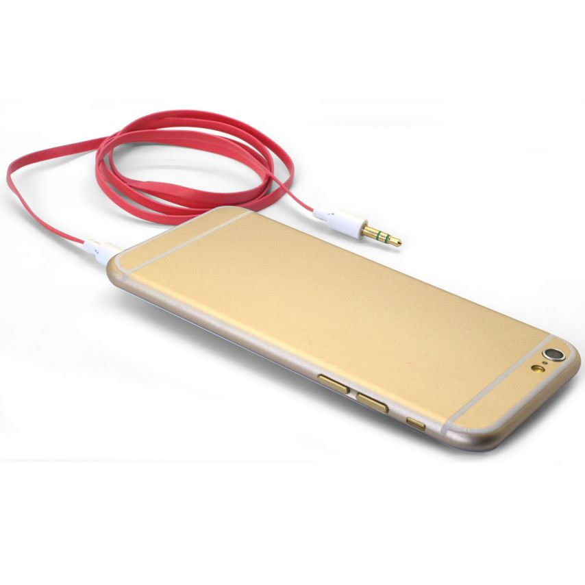 Cable Audio Jack 3.5 mm Macho a Macho - 1M - Rojo