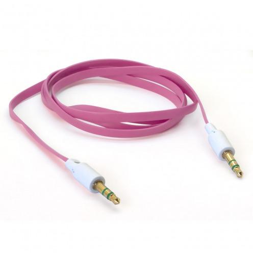 Cable Audio Jack 3.5 mm Macho a Macho - 1M - Rosa