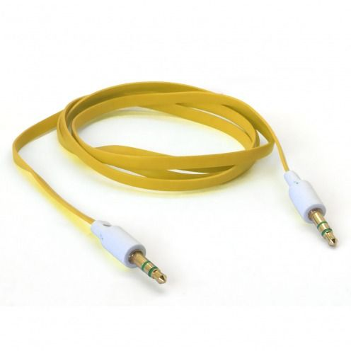 Cable Audio Jack 3.5 mm Macho a Macho - 1M - Amarillo