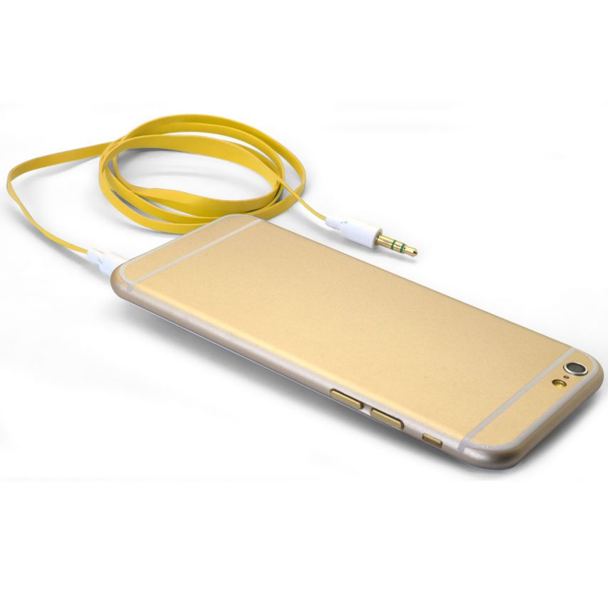 Cable Audio Jack 3.5 mm Macho a Macho - 1M - Amarillo