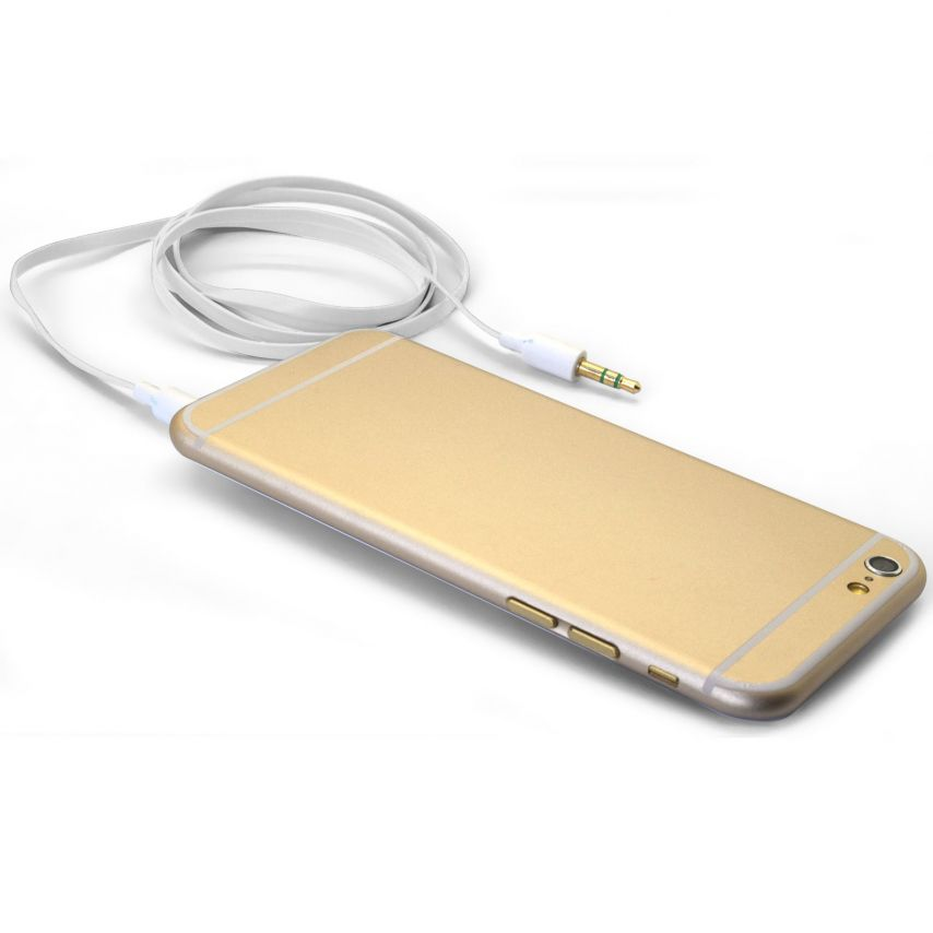 Cable Audio Jack 3.5 mm Macho a Macho - 1M - Blanco