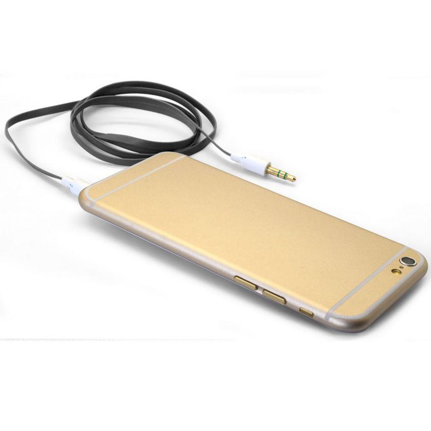 Cable Audio Jack 3.5 mm Macho a Macho - 1M - Negro