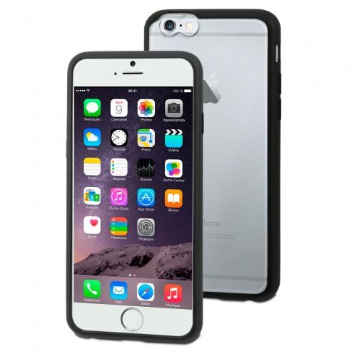 Carcasa iPhone 6 Plus Muvit® MyFrame Bi-materia Negro - Transparente