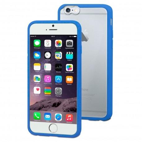 e7cacba3959 Carcasa iPhone 6 Plus Muvit® MyFrame Bi-materia Azul - Transparente