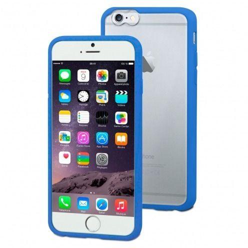 Carcasa iPhone 6 Plus Muvit® MyFrame Bi-materia Azul - Transparente