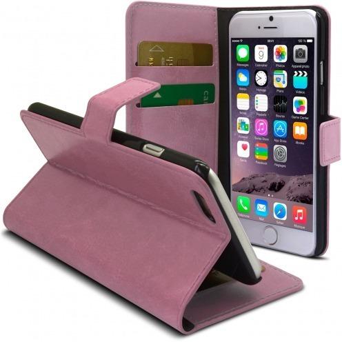 Smart Cover iPhone 6 de cuero sintético jaspeado Rosa