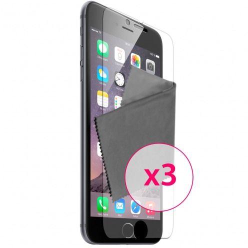 Clubcase ® protección anti películas huellas dactilares iPhone 6 Plus juego de 3
