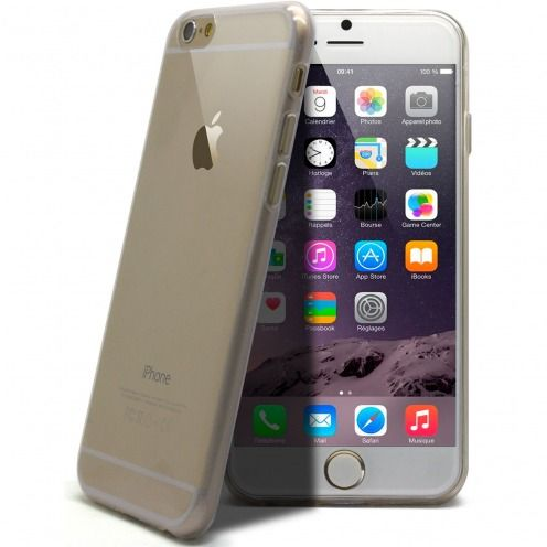 "Casco Ultra Fina 0.5 mm Flexible ""Crystal Clear"" para iPhone 6 Plus"
