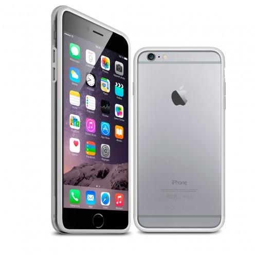 Carcasa Bumper iPhone 6 HQ Blanco / Transparente