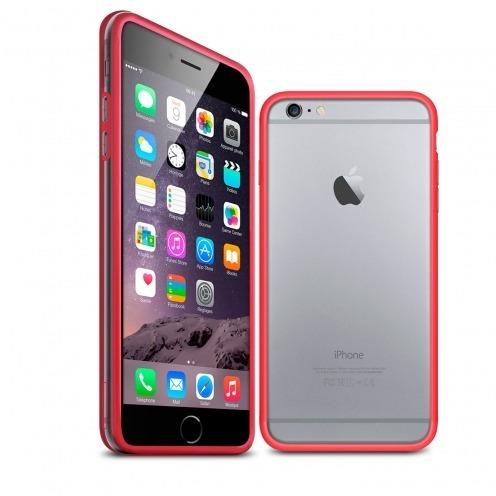 Carcasa Bumper iPhone 6 HQ Rojo / Transparente