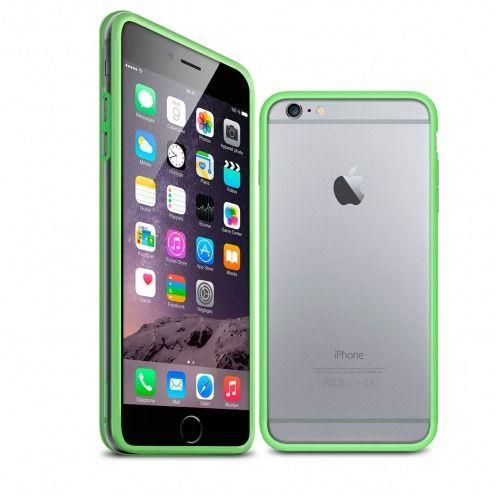Carcasa Bumper iPhone 6 HQ Verde / Transparente