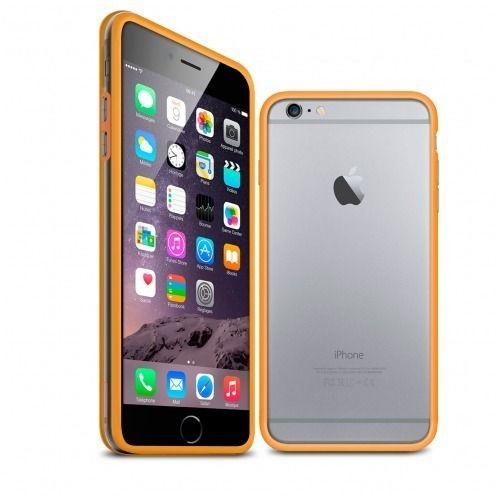 Carcasa Bumper iPhone 6 HQ Naranja / Transparente