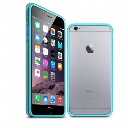 Carcasa Bumper iPhone 6 HQ Azul / Transparente