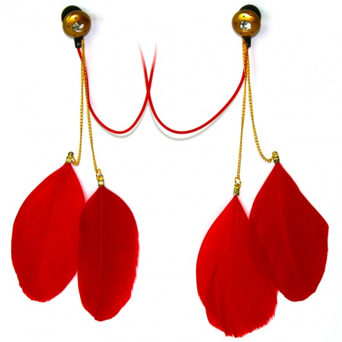 Auriculares In Ear Satzuma Sound® Paloma Feather Rojo