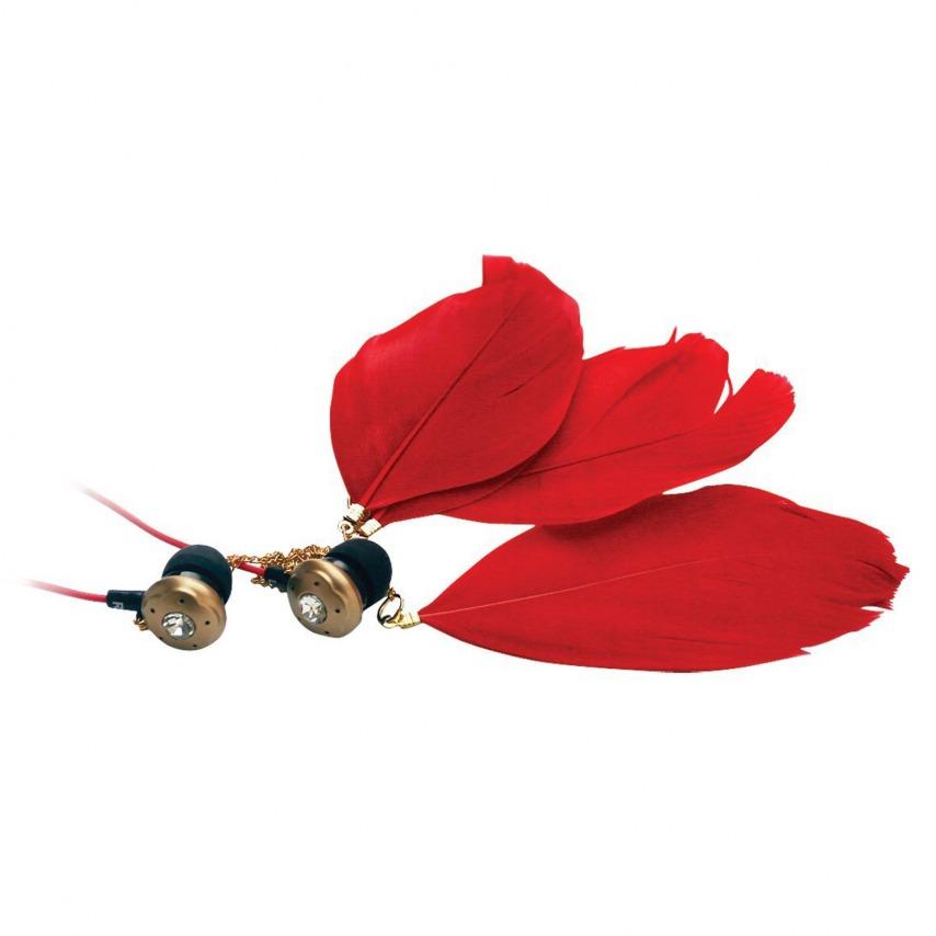 Auriculares In Ear Satzuma Sound® Paloma Feather Rojo