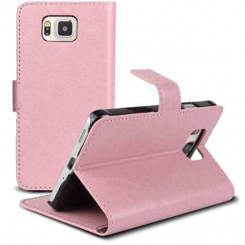 Smart Cover Galaxy Alpha de cuero sintético jaspeado Rosa