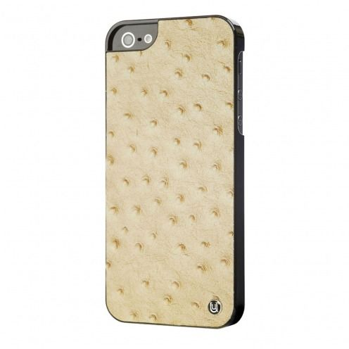 Carcasa iPhone 5 / 5S / SE Uunique® London Slimline Ostrich Tan