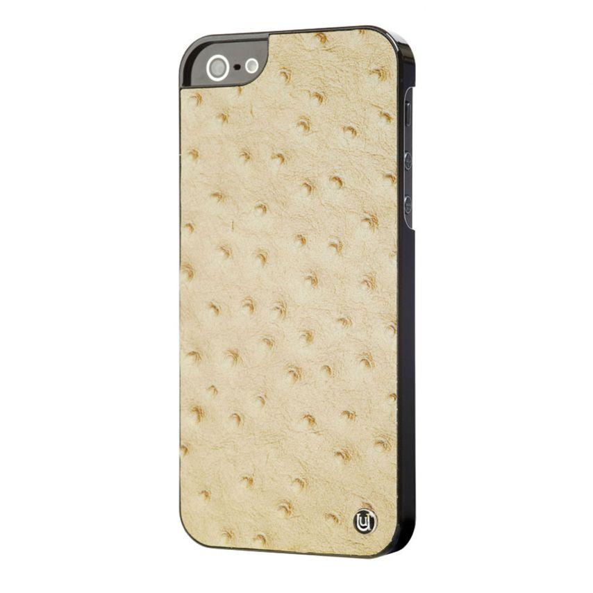 Carcasa iPhone 5 / 5S Uunique® London Slimline Ostrich Tan
