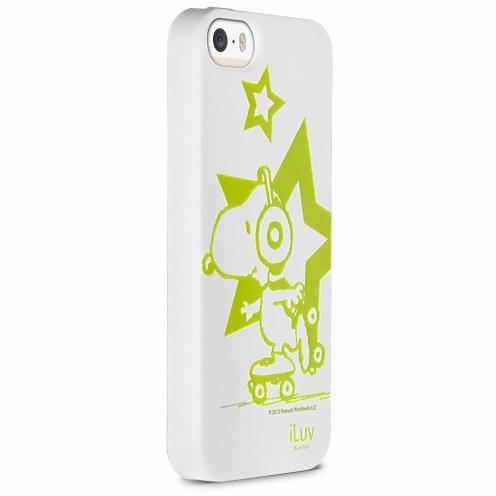 Carcasa iPhone 5 / 5S iLuv® Collection Snoopy™ TPU Blanco