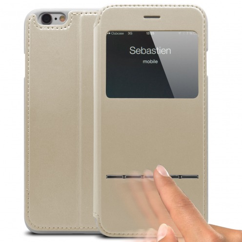 Funda Folio iPhone 6 Smart Touch View Blanco