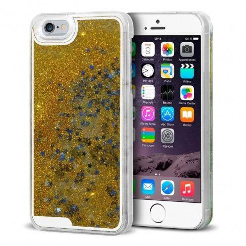 Carcasa Crystal Glitter Liquid Diamonds Oro iPhone 6