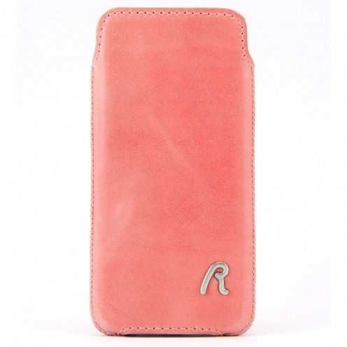 Funda Bolsa iPhone 4/4S Replay® Cuero Genuino Rosa Vintage