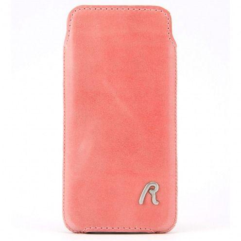 Funda Bolsa iPhone 4/4S Replay® Cuero Genuino Rosa Vintage