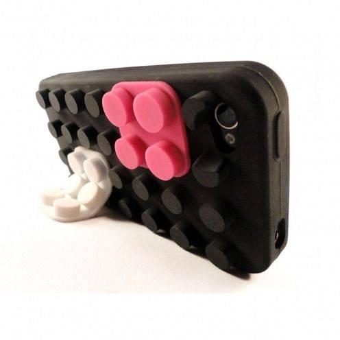 Carcasa Bloques Design Negra iPhone 4S / 4