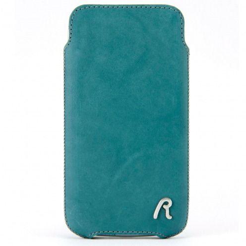 Funda Bolsa iPhone 4/4S Replay® Cuero Genuino Aqua Medium Azul