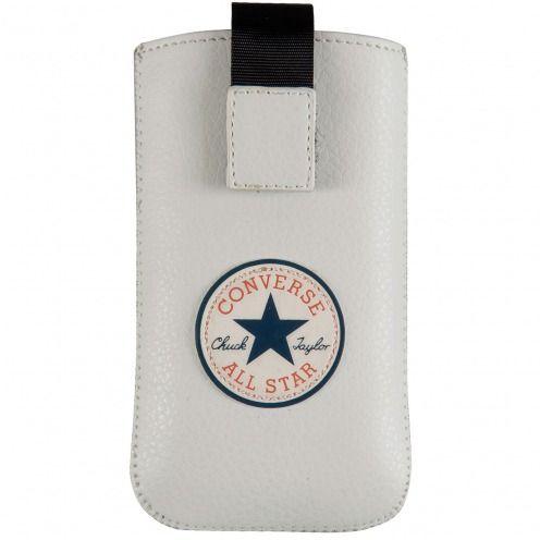 Funda Bolsa iPhone 4/4S Converse All Star® Eco Cuero - Blanco - Talla M