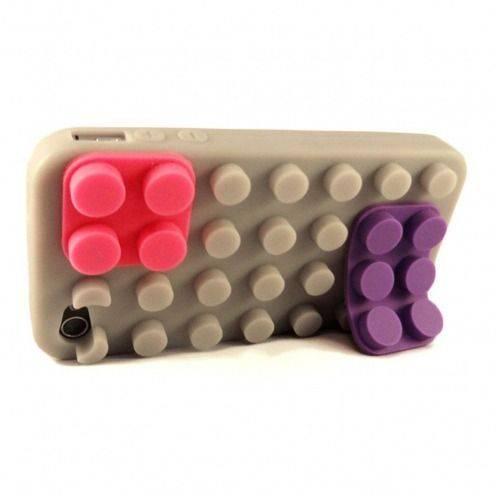 Carcasa Bloques Design Gris iPhone 4S / 4