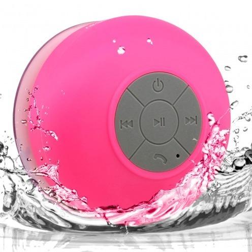 AquaSound Altavoz Bluetooth resistente al agua para baño y ducha - Rosa