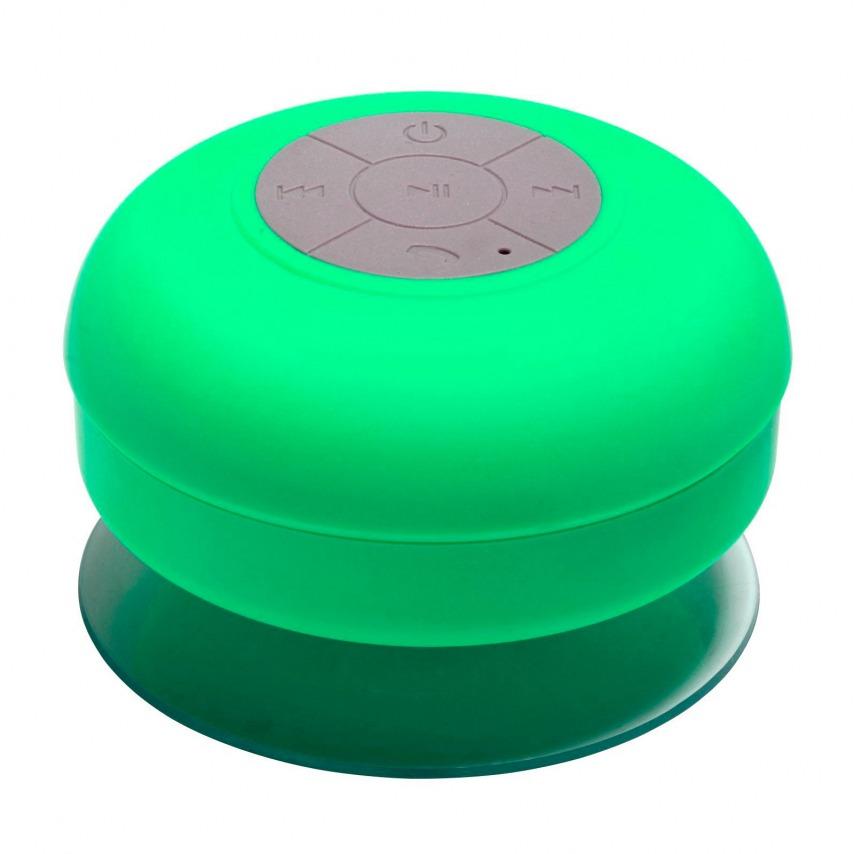 AquaSound Altavoz Bluetooth resistente al agua para baño y ducha - Verde