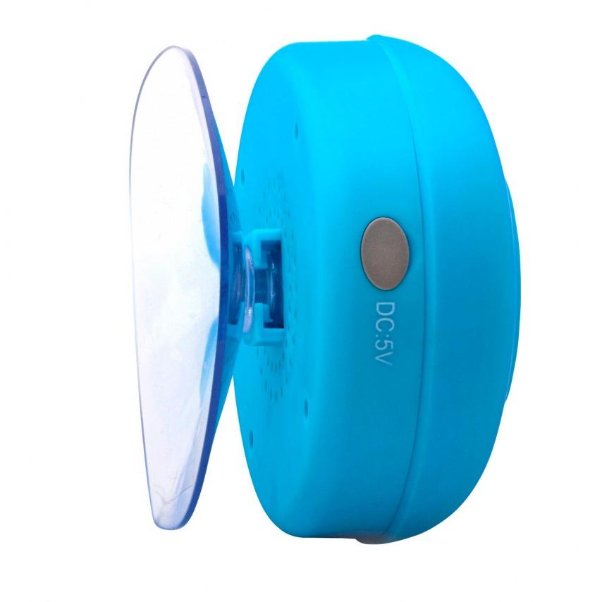 AquaSound Altavoz Bluetooth resistente al agua para baño y ducha - Blanco