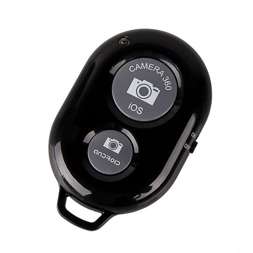 Bluetooth 3.0 RemoteShutter teledirigido para Selfiestick Negro