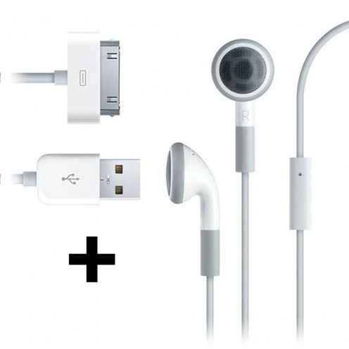 Auriculares / Kit Peatón + cable de sincronización Blanco para iPhone