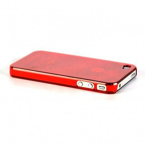Carcasa Crystal iPhone 4 / 4S Roja