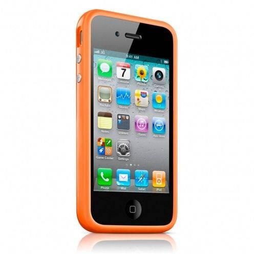 Carcasa Bumper HQ Naranja para iPhone 4S / 4