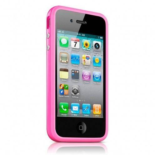 Carcasa Bumper HQ Rosa para iPhone 4S / 4