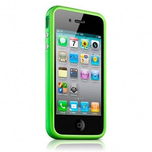 Carcasa Bumper HQ Verde para iPhone 4S / 4