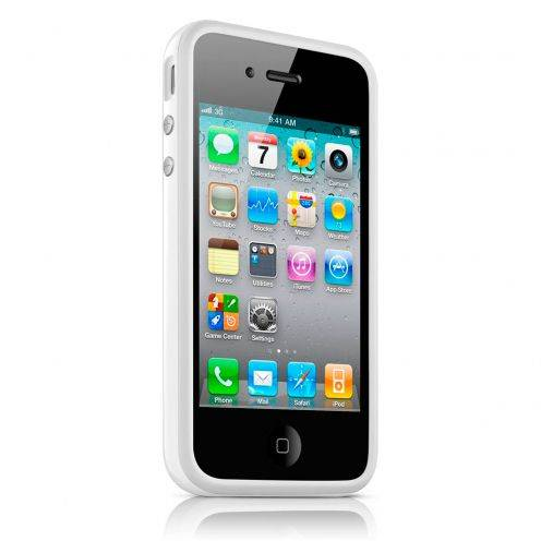 Carcasa Bumper HQ Blanco para iPhone 4S / 4